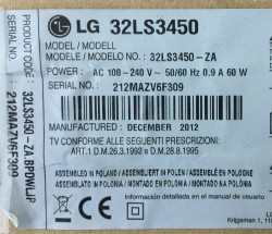 LG , 331537503 , 32LS3450 , 32_Array_0.1_7LED_REV0.2_120210 , 4 ADET LED ÇUBUK