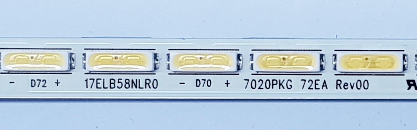 17ELB58NLR0 , 7020PKG 72EA REV00 , VES480UNVS-2D-M05 , 1 ADET LED ÇUBUK