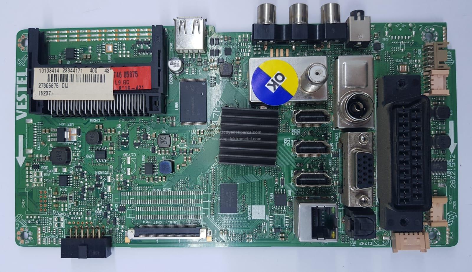 17MB97 , 23344171 , 10103414 , VES430UNEL-2D-U01 , 43FB75550 , Main Board , Ana Kart