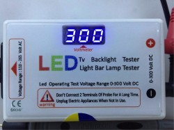 LED - LED TV LED ÇUBUK TEST CİHAZI , LED AYDINLATMA TEST CİHAZI , LED TV BACKLIGHT TESTER , LED LIGHT BAR LAMP TESTER , 0-300 VOLT DC