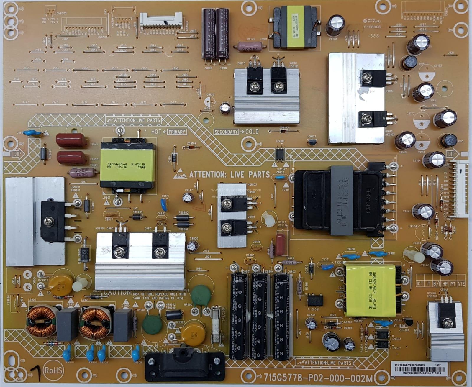 715G5778-P02-000-002M , PHILIPS , 46PFL4418 , 46PFL4908 , Power Board , Beslem Kartı , PSU