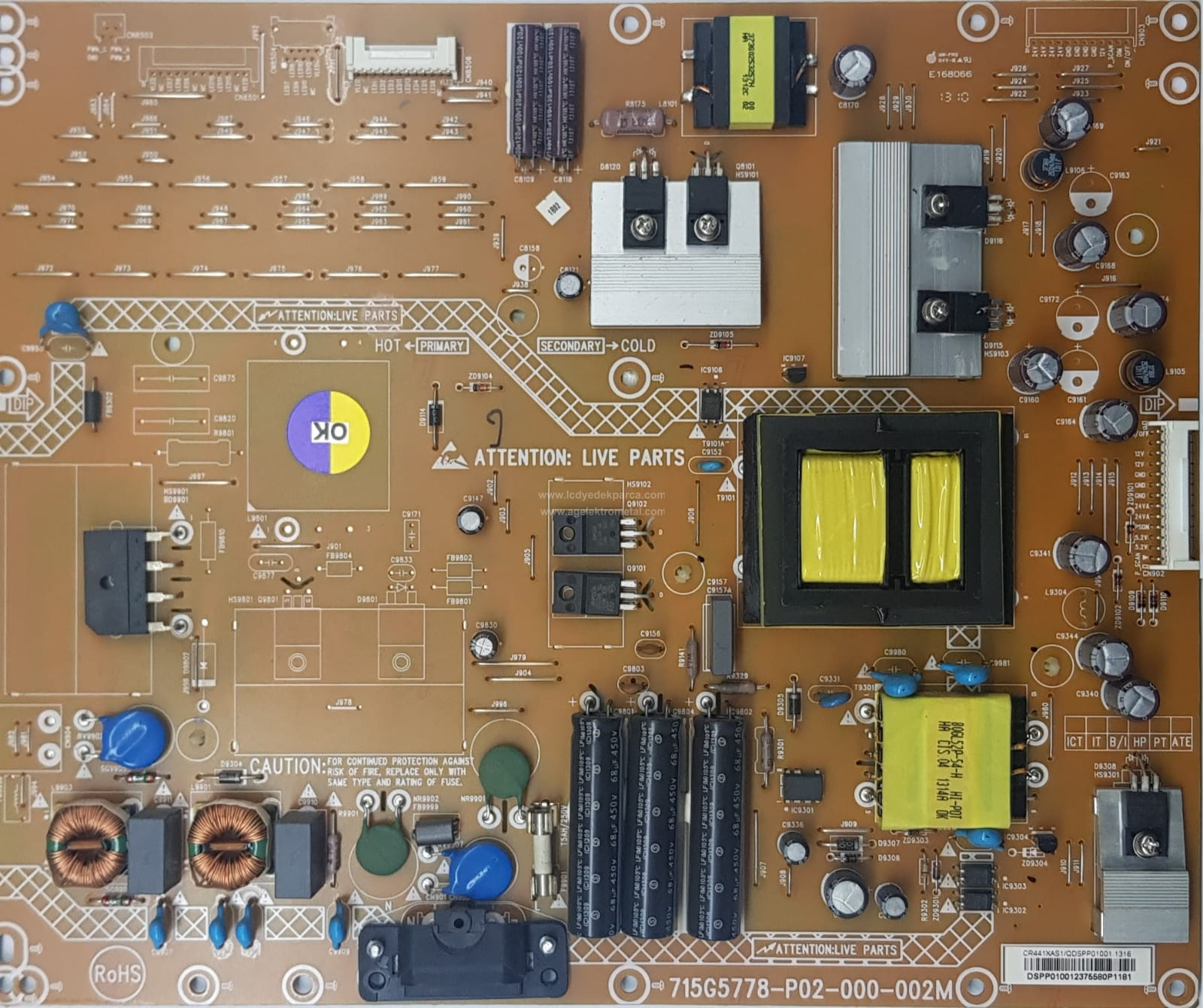 715G5778-P02-000-002M , PHILIPS , TPT460H1-HM01 , 46PFL3108 , Power Board , Besleme Kartı , PSU