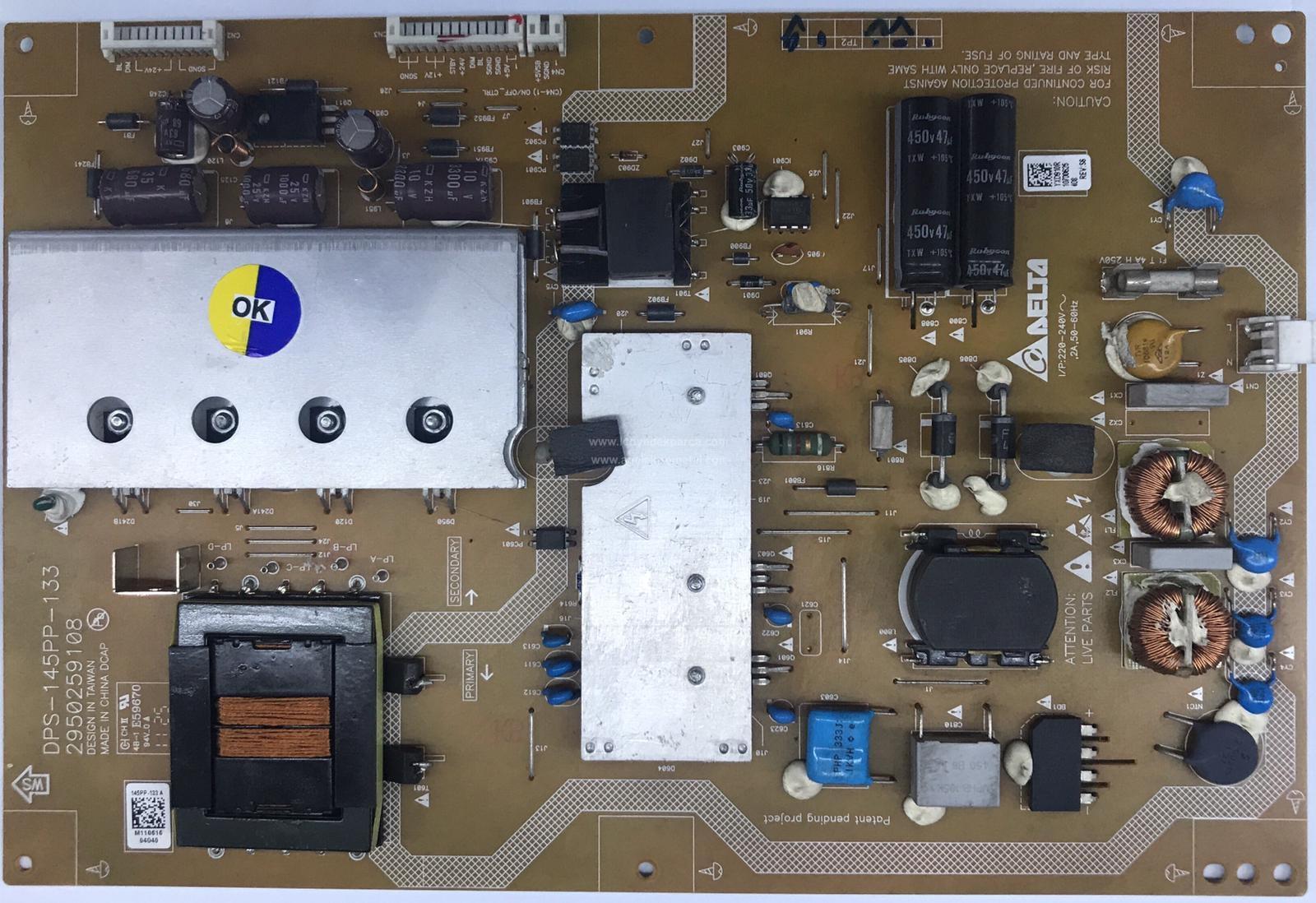 DPS-145PP-133 , 2950259108 , YXD910R , ARÇELİK , LTA320AN01 , F82-210 , Power Board , Besleme Kartı , PSU