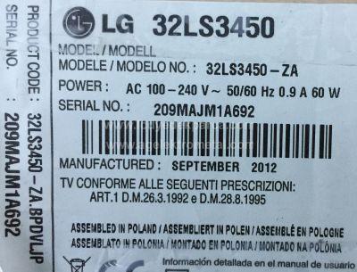 LG , 331537560 , 32LS3450 , 32_Array_0.1_7LED_REV0.2_120210 , 4 ADET LED ÇUBUK