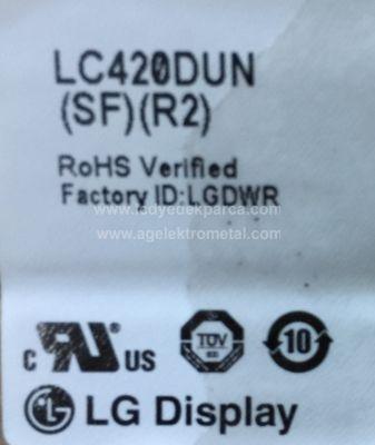 LG , LC420DUN SF R2 , SUNNY , SN042DLD12AT022-SMF , SM3DF , 6916L-1368A , 6916L-1369A , 6916L-1370A , 6916L-1371A , 12 ADET LED ÇUBUK