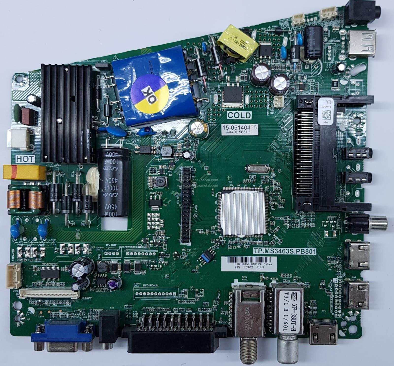 TP.MS3463S.PB801 , PHNDZZ , ALTUS , LSC400HN02 , 40N06-L-DPX1F1 , AL40K46311B , Main Board , Ana Kart