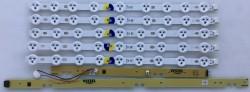 VESTEL - VESTEL , VES400UNDS-02-B , 40PF3025 , VESTEL REV0.2 C TYPE , 5 ADET LED ÇUBUK