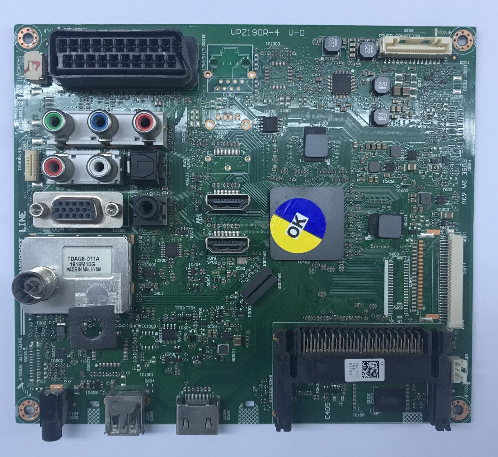 VPZ190R-4 , V-0 , KQFTZZ , ARÇELİK , LTA320AN01 , F82-210 , Main Board , Ana Kart